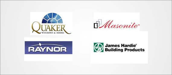 Quaker, Masonite, Raynor, James Hardie Building Products